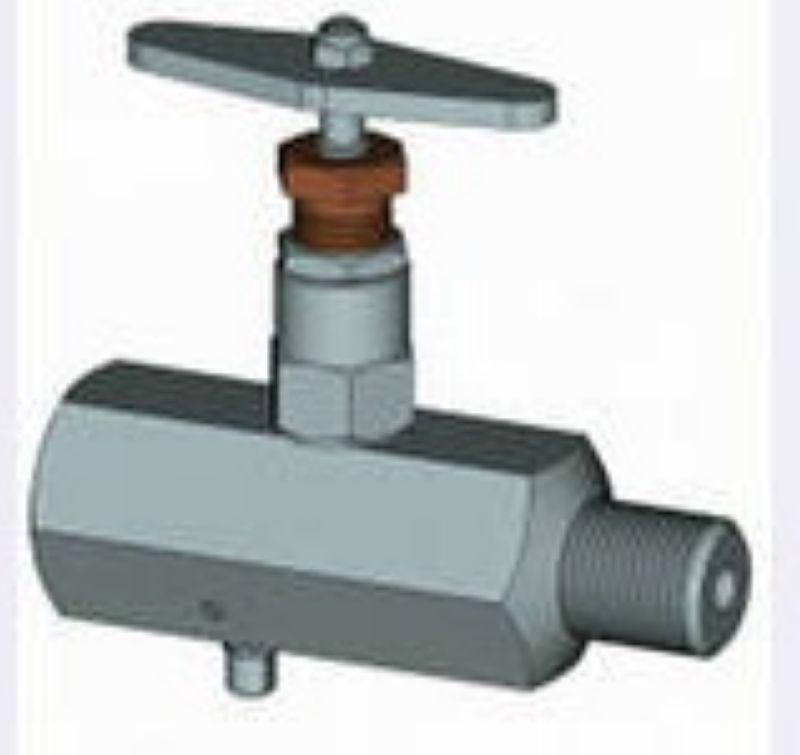 Клапан стальной прямоточный под манометр, К 1/2-В M20X1,5-B, пр-ва Корвет